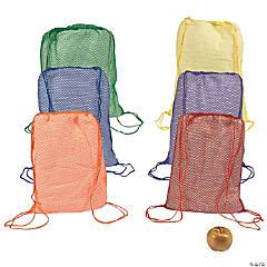 Bright Net Drawstring Backpacks