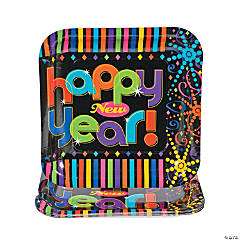 Bright New Years Square Dinner Plates
