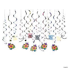 Bright New Year's Swirls