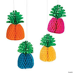 Bright Pineapple Hanging Paper Lanterns