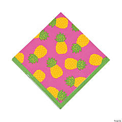 Bright Pineapple Luncheon Napkins