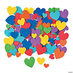 Bright Self-Adhesive Heart Shapes