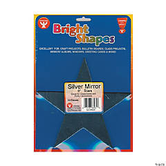 Bright Shape Cut Outs - Silver Mirror Stars