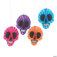 Bright Skull Tissue Paper Hanging Fans