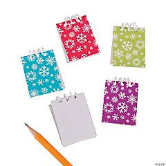 Bright Snowflake Mini Spiral Notepads