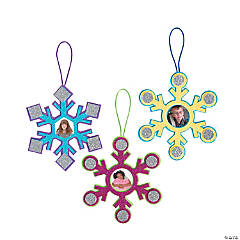 Bright Snowflake Picture Frame Ornament Craft Kit