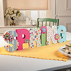 bright spring letters idea - Spring Party Decorating Ideas