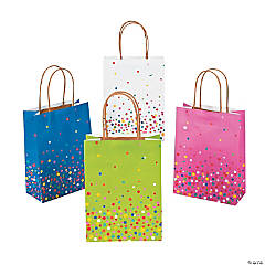 Bright Sprinkle Kraft Paper Bags