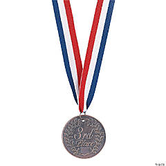 "Bronze ""3rd Place"" Prize Medallions"