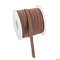 Brown Faux Leather Cording