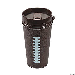 Brown Football Travel Mug