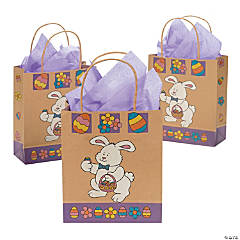 Brown Paper Easter Bunny Gift Bags