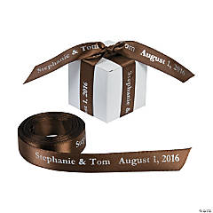 Brown Personalized Ribbon - 5/8""