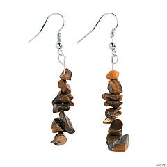 Brown Stone Earrings Craft Kit