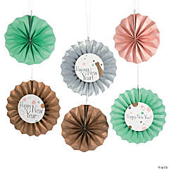 Bubble & Bright New Year Hanging Fans