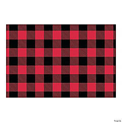 Buffalo Plaid Backdrop Banner