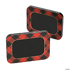 Buffalo Plaid Chalkboard Table Cards