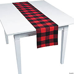 buffalo plaid fabric table runner