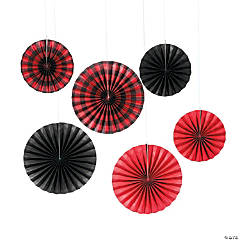 Buffalo Plaid Hanging Fans