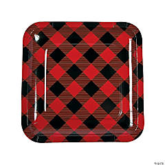 Buffalo Plaid Paper Dinner Plates