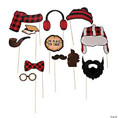 Buffalo Plaid Photo Stick Props