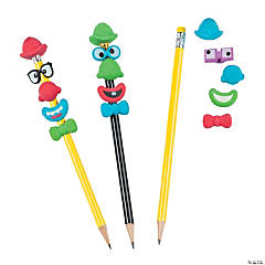 Build-a-Clown Pencil Toppers