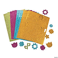 Build-A-Flower Glittery Shapes