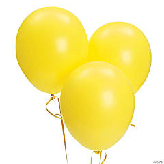 Bulk Citrine Yellow Latex Balloons