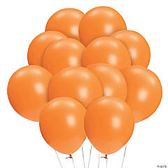 "Bulk Orange 11"" Latex Balloons"
