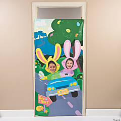 Bunnies in Motion Photo Door Plastic Banner