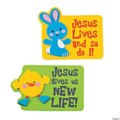 Bunny and Chick with Jesus Magnet Craft Kit