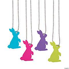 Bunny Cutout Dog Tag Necklaces