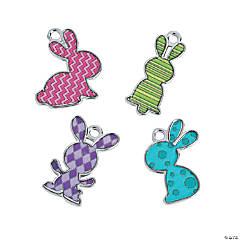 Bunny Enamel Charms