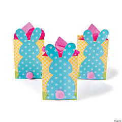 Save on easter gift bags gift tags oriental trading bunny tail gift bags negle Image collections