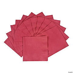 Burgundy Beverage Napkins