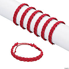 Burgundy Braided Friendship Bracelets