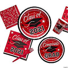 Burgundy Class of 2018 Graduation Party Supplies