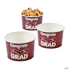 Burgundy Congrats Grad Snack Bowls