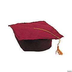 Burgundy Felt Graduation Caps