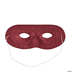 Burgundy Glitter Masks
