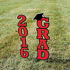 2016 Burgundy Grad Yard Sign