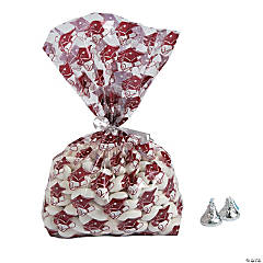 Burgundy Graduation Cellophane Bags