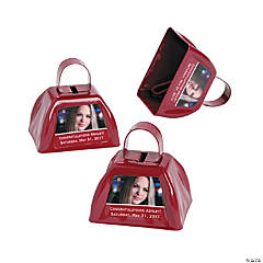Burgundy Graduation Custom Photo Cowbells