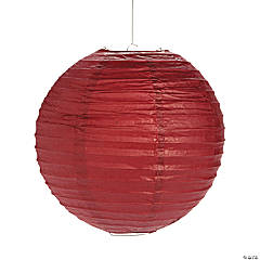 Burgundy HangingPaper Lanterns