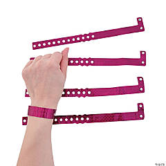 Burgundy Laser Wristbands