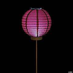 Burgundy Light-Up Paper Lantern Balloons