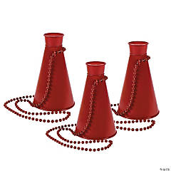 Burgundy Megaphone Necklaces
