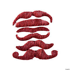 Burgundy Mustache Assortment