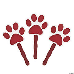 Burgundy Paw-Shaped Fans