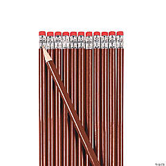 Burgundy Personalized Pencils